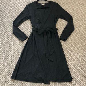 Banana Republic Charcoal Grey Wrap Dress